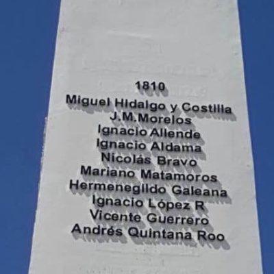 BORRAN AGRAVIO BORGISTA A LA HISTORIA DE QR: Quitan los nombres de ex Gobernadores del obelisco en la Explanada de la Bandera en Chetumal