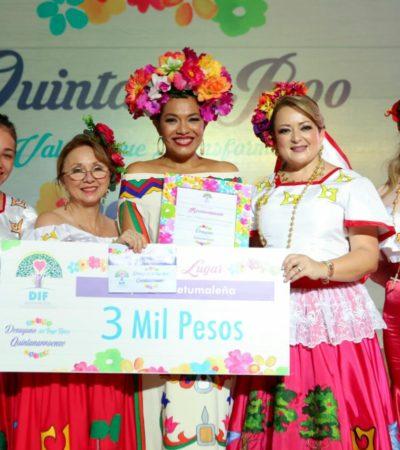 Obtiene DIF 337 mil 500 pesos en evento de traje típico quintanarroense