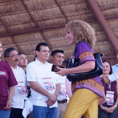 Dice 'Luzma' Beristaín que las consignas en su contra en evento de AMLO fueron 'pagadas' y que no llegó a Morena a buscar candidatura
