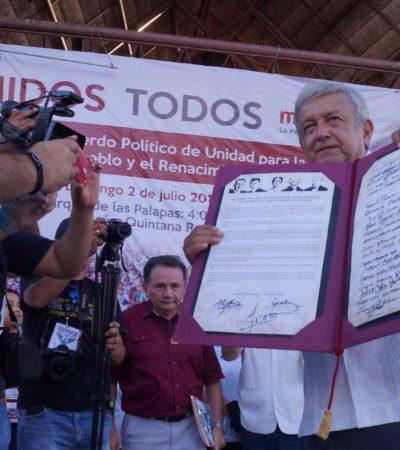 Rompeolas: Morena, en Yucatán, intelectuales; en QR…