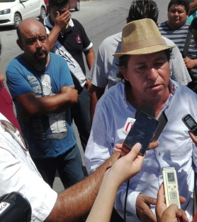ESTÁN CHUECOS, BUSCAN ARREGLARSE: Protestan transportistas ante Sintra por detención de unidades en Cancún