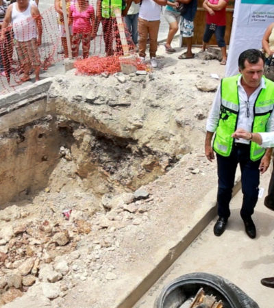Da Alcalde banderazo a la construcción de 140 pozos de absorción en Cancún con inversión de 17 mdp