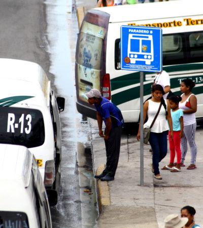 Monitoreará Sintra a las combis para que no lleven sobrecupo en Cancún