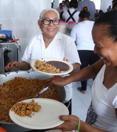 Entrega Alcaldesa primer comedor comunitario para beneficio de 400 personas en Playa del Carmen