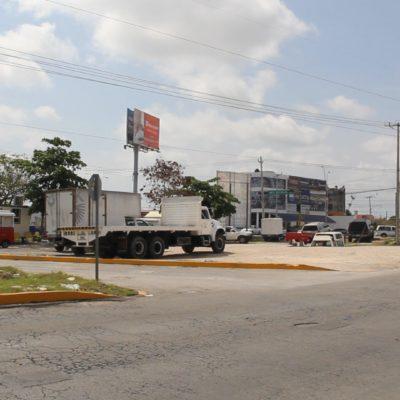 PROBLEMA AÑEJO HASTA CON LA 'BENDICIÓN DE LA VIRGEN: La invasión de camellones no es un lastre sólo del centro de Cancún