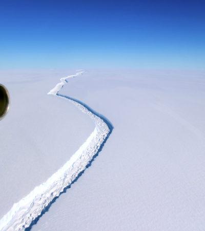 Se desprende de la Antártida uno de los mayores icebergs con un billón de toneladas