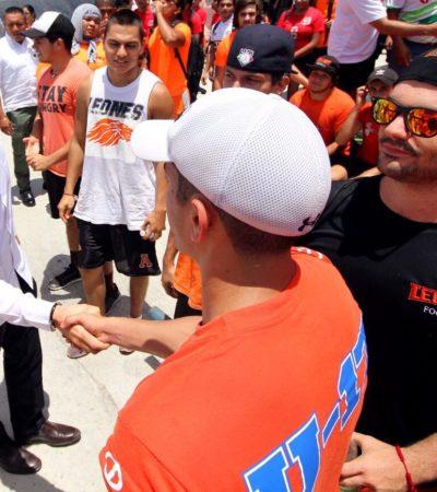 Visita Alcalde Bonfil y anuncia mejoras a la infraestructura deportiva en la zona conurbada de Cancún