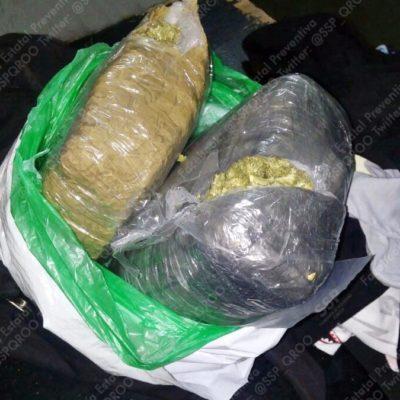 Detienen a un hombre con cargamento de droga en el retén de Huay Pix