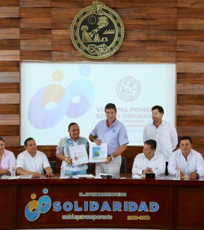 Estrena Cabildo de Solidaridad nuevo espacio para sesiones en el Palacio Municipal aún en construcción