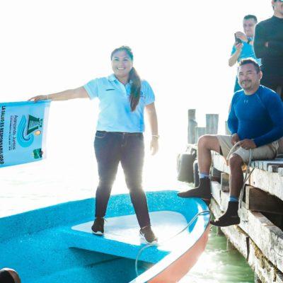 Da Alcadesa banderazo a la temporada de captura de langosta en Punta Allen