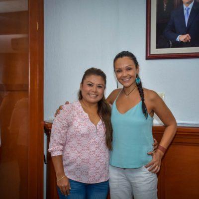 Se reúne Alcaldesa con la cofundadora del 'Tulum Vegan Fest'