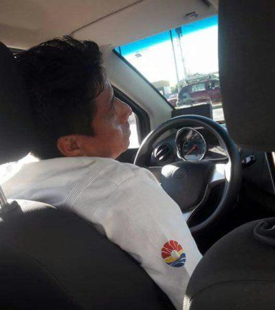Denuncian en redes sociales a taxista conduciendo en estado de ebriedad en Cancún