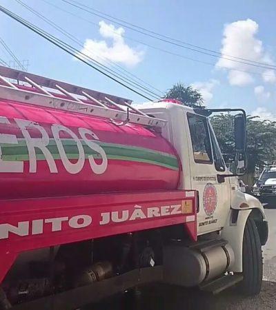 DOS INCENDIOS Y UN CALCINADO: Reportan siniestros casi simultáneos en Cancún con saldo de una víctima mortal