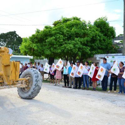 Inician pavimentación de calles en Nicolás Bravo