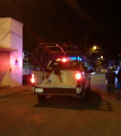 Lanzan bomba molotov a caseta de policía, otra vez en Cozumel