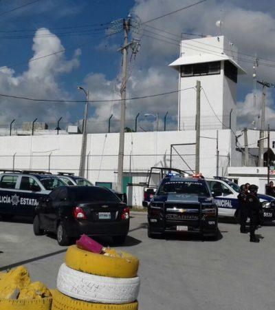 RIÑA EN LA CÁRCEL DE CANCÚN: Fuerte movilización policiaca para contener conato de disturbio en el Cereso