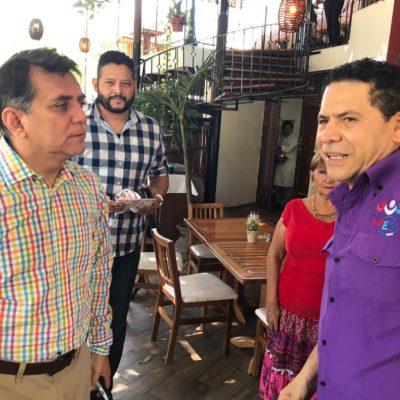 """""""ME URGE HABLAR CONTIGO, TE HE ESTADO BUSCANDO"""": Se topan Gregorio Sánchez y Miguel Ramón en restaurante en Cancún"""