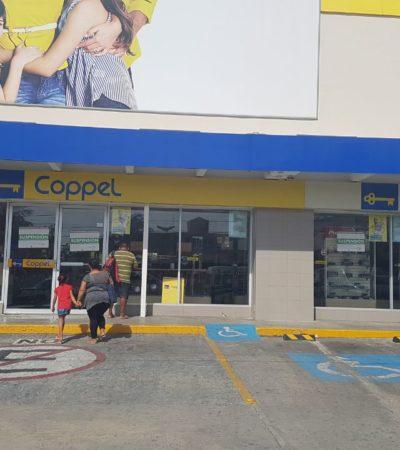 Suspende Profeco actividad en Coppel de Cancún por no exhibir a detalle el cobro de los porcentajes de los intereses