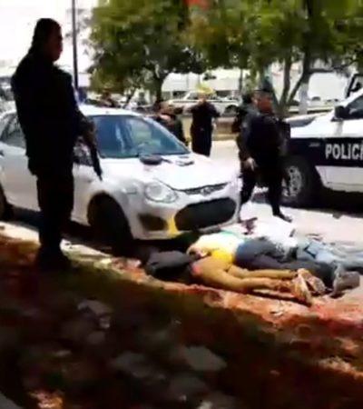 CAEN PRESUNTOS EMPISTOLADOS EN CANCÚN: Detienen a 4 hombres en la Avenida Andrés Quintana Roo y los vinculan con asaltos a bancos y comercios