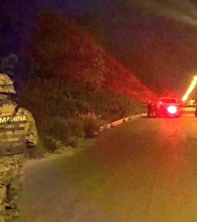 SEGUNDO EJECUTADO AL HILO EN CANCÚN: Hallan cuerpo un hombre amarrado de pies y manos y presuntamente degollado por el Arco Vial