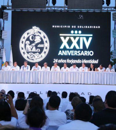 SESIÓN SOLEMNE EN PLAYA: Celebran 24 años de la creación del municipio de Solidaridad