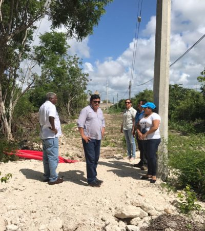 Supervisa Luis Torres avance de obras en Mahahual