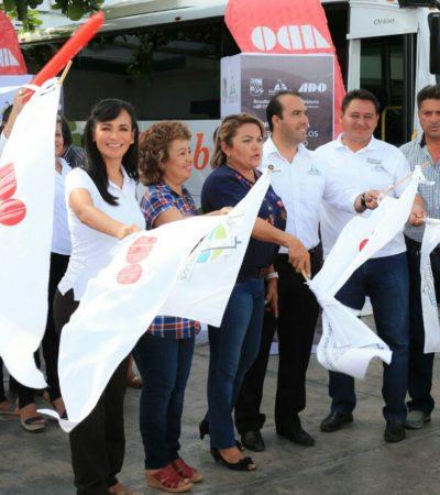 Dan banderazo de inicio a la nueva ruta Puerto-Morelos-Valladolid-Mérida