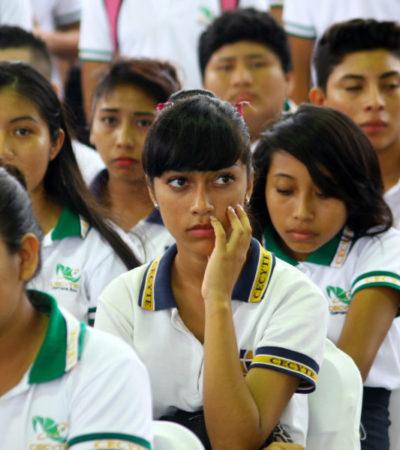 CRUJE EL SISTEMA EDUCATIVO: Por falta de recursos para nuevos planteles, 6 mil egresados de secundaria no hallarán cupo en preparatorias públicas en QR