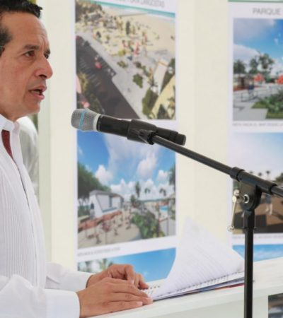 Destaca Gobernador izamiento de distintivos 'Blue Flag' en 7 playas de Cancún