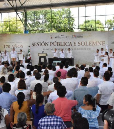 MENOSPRECIAN LA LUCHA DEL PUEBLO MAYA: Exhiben diputados locales falta de interés por la Guerra de Castas; faltan siete legisladores a sesión solemne en Tihosuco