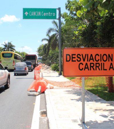 EL TERCER CARRIL DE LA ZONA HOTELERA: El proyecto para desfogar el tráfico en 'hora pico' en Cancún