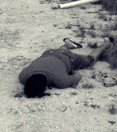 EJECUTAN A DOS PERSONAS EN CANCÚN E IM: Matan a un hombre en la colonia El Jordan y a otro en la Indio Blanco de la Región 244