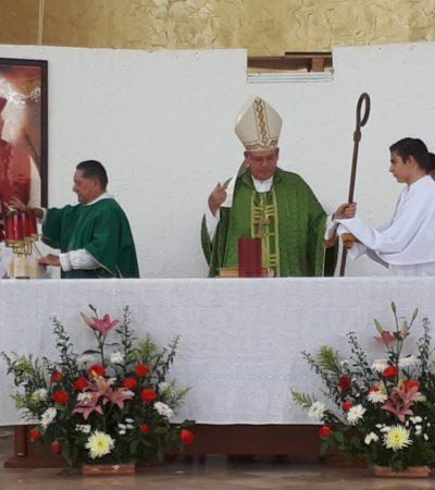 Se queja Obispo de que les hacen 'bullying' por destrucción de capilla construida en un área pública en Cancún