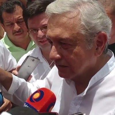 AMLO EN LA PENÍNSULA: Sin mencionar a Rolando Zapata, el líder de Morena omite ataques del priismo contra sus huestes en Yucatán