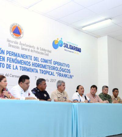 """SE DECLARA SOLIDARIDAD LISTO EN CASO DE HURACÁN: """"No hay suspensión de actividades, ni cierre de carreteras o aeropuertos"""", dice Alcaldesa"""