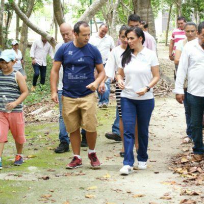 Realizan jornada de rehabilitación, limpieza y reforestación de Unidad Deportiva en Puerto Morelos