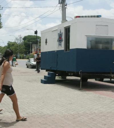Tras hechos violentos, instalan caseta de vigilancia permanente en 'El Crucero' de Cancún