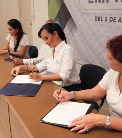 Firman convenio con Nafinsa para capacitar al sector empresarial de Puerto Morelos