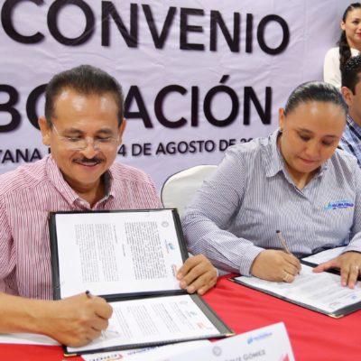 Firma Solidaridad convenio de colaboración con la CROC para ampliar programas sociales