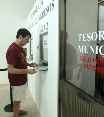Reportan repunte de trámites durante jornada de descuentos municipales en Puerto Morelos