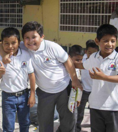 Alista Puerto Morelos regreso a clases