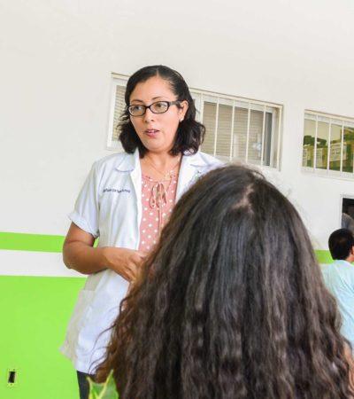Ofrecen en Puerto Morelos pruebas gratis de papanicolaou y exploración de mama