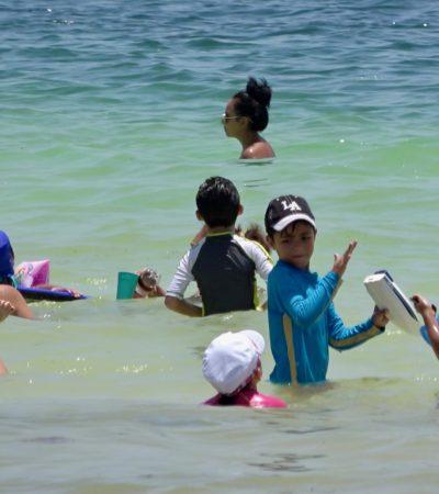 Refuerzan seguridad de bañistas en las playas de Puerto Morelos