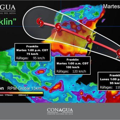 Puerto Morelos, sin mayor riesgo por tormenta tropical 'Franklin'
