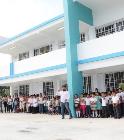 Estrenan nueva escuela en Puerto Morelos