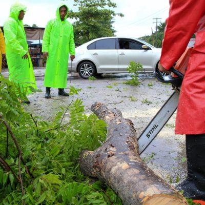 Supervisa Alcadesa operativo por lluvias provocadas por 'Franklin' en Puerto Morelos