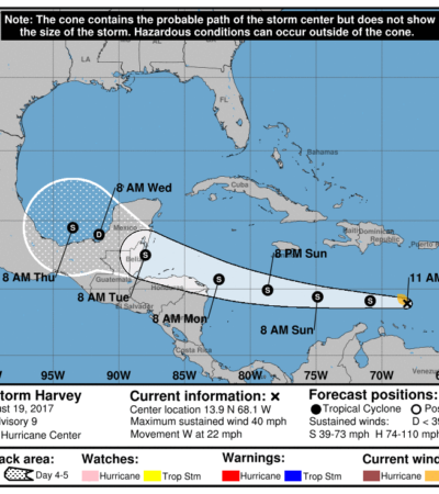 Se mantiene alerta en QR por el acercamiento de la tormenta tropical 'Harvey'