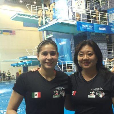 Gana mexicana Dolores Hernández Monzón oro en clavados en la Universiada Mundial de Taipéi