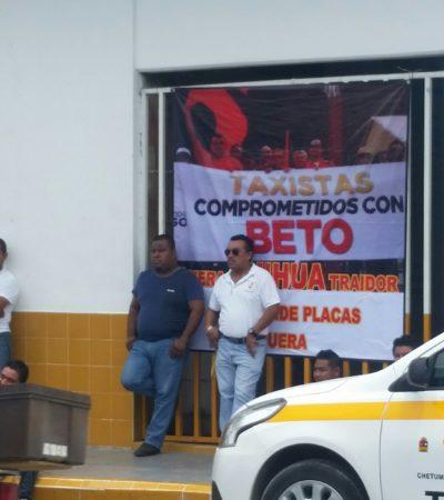 BROTA INCONFORMIDAD DE TAXISTAS DE CHETUMAL: Seguidores de Rubén Pelayo toman oficinas por pugnas internas