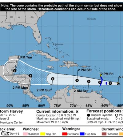 NACE TORMENTA TROPICAL EN EL ATLÁNTICO: 'Harvey' podría afectar en los próximos días costas de Quintana Roo